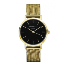 ROSEFIELD The Mercer Gold Black Dial Watch with Gold Strap [MBG-M46]