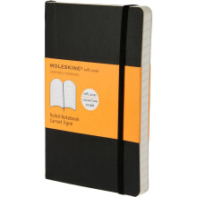 MOLESKINE Notebook Ruled Soft Cover P QP611F - Black
