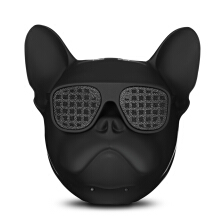 Bulldog Bluetooth Speaker Portable Wireless Player Support TF Card AUX   Black