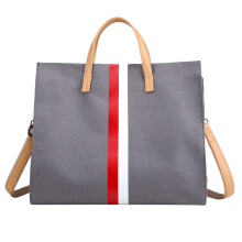 SiYing Simple canvas bag fashion one shoulder large capacity mobile Messenger bag