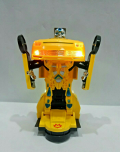 Kaptenstore Robot Universe Warrior Transform Races Car Mainan Robot jadi Mobil Yellow
