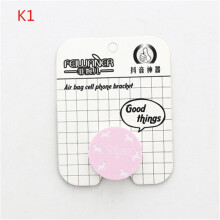KYM Pop Cartoon Cute Round Design Phone Holder stand For Mobile phone/tables Finger Holder Popular Drawing Phone Ring Holder