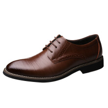 JUNSITE business new formal men's shoes leather shoes
