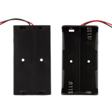 [LESHP] Plastic Battery Storage Case For 2 PCS 18650 Batteries With Wire Leads black
