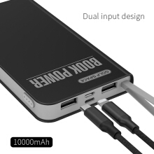 GOLF 10000mAh powerbank dua output with micro cable