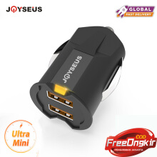 JOYSEUS Smallest Mini USB Car Charger Adapter 2A Car USB Charger Mobile Phone Dual USB Car-charger Auto Charge 2 port Black