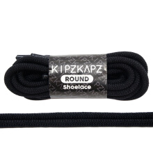 KIPZKAPZ RS59 Round Shoelace - Jet Black [4mm]