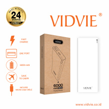 VIDVIE Powerbank PB713 6000 mAh / Battery Charger / Pengisi Daya