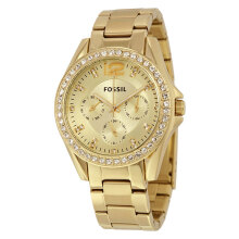 Fossil ES3203 Riley Multifunction Gold Tone Stainless Steel [ES3203]