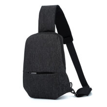 [COZIME] Men Women Waterproof Oxford Fabric Chest Bag Casual Travel Crossbody Bag Black1