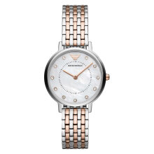 Emporio Armani Kappa AR11094 White Mother of Pearl Dial Dual Tone Stainless Steel Strap [AR11094]
