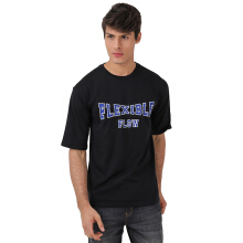 FACTORY OUTLET UG1802-0010 Mens T-Shirt With Print - Black - [95(M)]