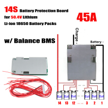 Blitzwolf 14S 45A 50.4V Lithium Battery Power Protection Board With Balance BMS/PCB/PCM   -  -