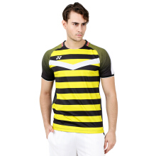 YONEX Marcus Gideon Crew Neck Shirt Badminton Tournament - Black / Yellow