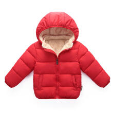Farfi Baby Boys Girls Long Sleeve Fleece Down Jacket Warm Coat Cotton Padded Outwear