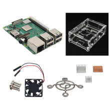 Blitzwolf 4 in 1 Raspberry Pi 3 Model B+(Plus) + Acrylic Case + Cooling fan + Heatsink Kit   -  -
