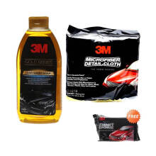 JMS - 3M Gold Series Paket Pembersih Mobil [Car Wash Soap Bottle 500 mL dan Microfibe Detailing Cloth] Orange