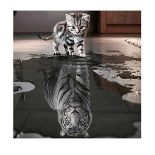[kingstore] 3D DIY Diamond Embroidery Painting Animals Of Cat To Tiger Home Decoration Multicolor