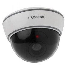 Fake Dummy Dome CCTV Silver