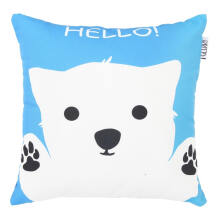 GLERRY HOME DECOR Hello Blu Cushion  - 40x40Cm