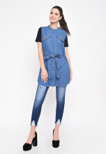 Shop at Banana Vilda Top Blue All Size