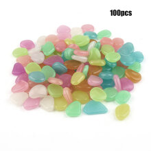 [kingstore]Luminous Artificial Pebbles Stone Multicolo Path Garden Decoration Accessories Multicolor Multicolor