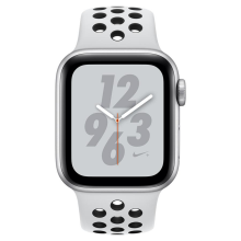 Apple Watch Nike+ Series 4 GPS 40mm MU6H2 Silver Aluminium Case with Pure Platinum/Black Nike Sport Band