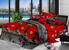 NYENYAK Elite Fitted Sheet / Comforter - Black/Red