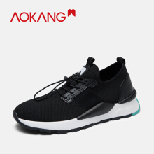 Aokang Sports Shoes Fly Knitted For menTrainers Shoes Wedge Air Mesh Breathable Causual shoes