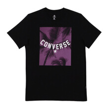 CONVERSE Palm Tree Photo Tee - Black