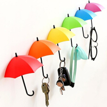Farfi 3Pcs Colorful Umbrella Wall Hooks