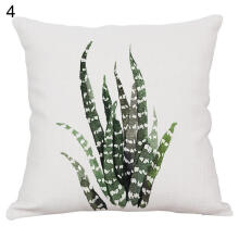 Farfi Bedroom Decor Tropical Plants Print Pillow Case Sofa Waist Throw Cushion Cover