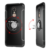 RockWolf Xiaomi Redmi 5 plus case silicone metal ring shell magnetic bracket shell