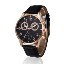 PEKY Vintage Design Leather Watch Men Analog Sports Military Alloy Quartz Watch Bracelet Clock