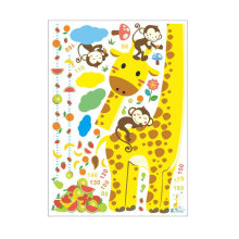 [kingstore] Cartoon Giraffe Height Measure Wall Stickers for Kids Home Decor DIY Art Decal Yellow
