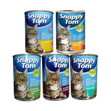 Snappy Tom Makanan Kucing [Wet Food/ 400 g Adult yummy] Random Varian