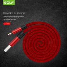 GOLF GC56 MICRO MOMORY SYNC CABLE Red 1 m