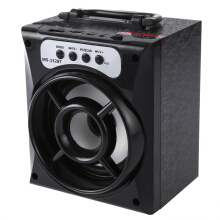 MS - 132BT Large Output Wireless Bluetooth Square Speaker Support AUX TF Input FM Radio  Black
