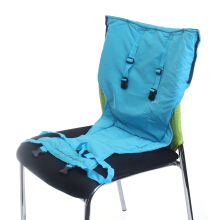 JDWonderfulhouse JDWonderfulHouse Baby Kids Portable High Chair Feeding Seat Harness Strap Chair Belt Cover Sky Blue