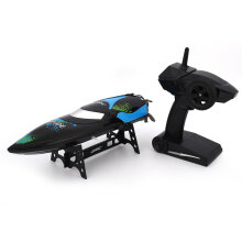 COZIME JJR/C S3 2.4G 25KM/h Self Righting Flip RC Racing Boat 150M Electric Ship RTR Blue