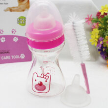 [kingstore] Non-Toxic Pet Cat Puppies Dog Baby Animal Feeding Bottle Set For Transparent