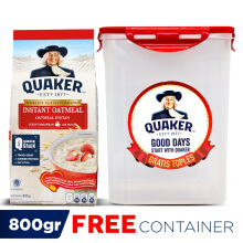 QUAKER Instant Oatmeal 800 Gr - FREE Container