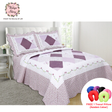 VINTAGE STORY Shabby Bed Cover Set Korea Size King 220x240 cm/P17