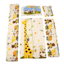 [COZIME] 100*58cm/110*60cm 5pcs/Set Promotion Cotton Baby Children Bedding Set Yellow  100*58