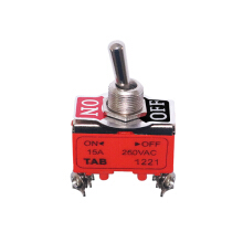 EELIC TOS-1221 TOGGLE SWITCH 1221 4 KAKI SAKLAR PEMUTUS ARUS ON/OFF 250V 15 A