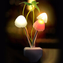 Jantens Intelligent light control Mushroom Fungus Night Light EU/US Plug Light Colorful Mushroom LED Sensor lamp color