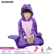 Anamode Size 100~140 Kids Cartoon Clothes Parent-Child Homewear Siamese Pajamas Suit -Purple Cat
