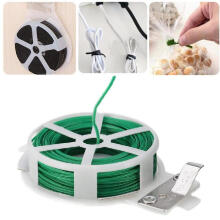 Farfi Durable 30M Roll Wire Twist Ties Garden Cable Vegetable Gardening Climbers Tool Random Color