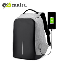 Mairu XD-USB Tas Ransel Anti Maling Laptop Travel Backpack USB Charger Support Anti Theft Model