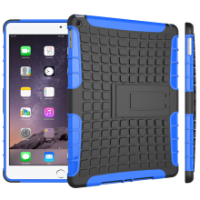 RockWolf iPad 6/iPad air 2 case TPU anti-fall tire pattern back clip bracket flat shell